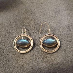 Sterling Labradorite Earrings